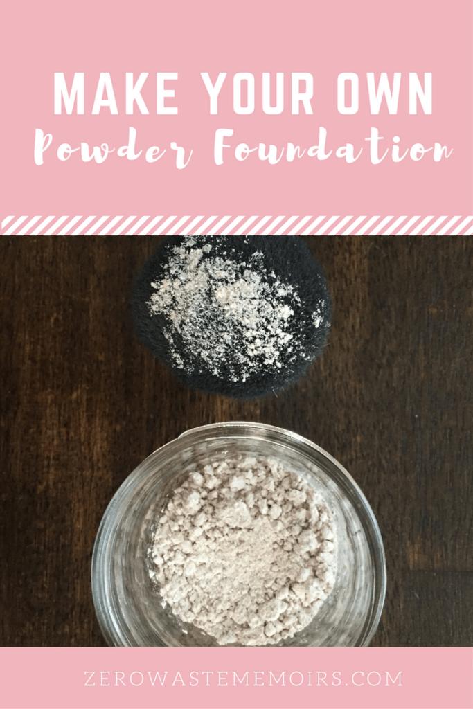 Make Your Own Powder Foundation! Tutorial via The Zero Waste Memoirs