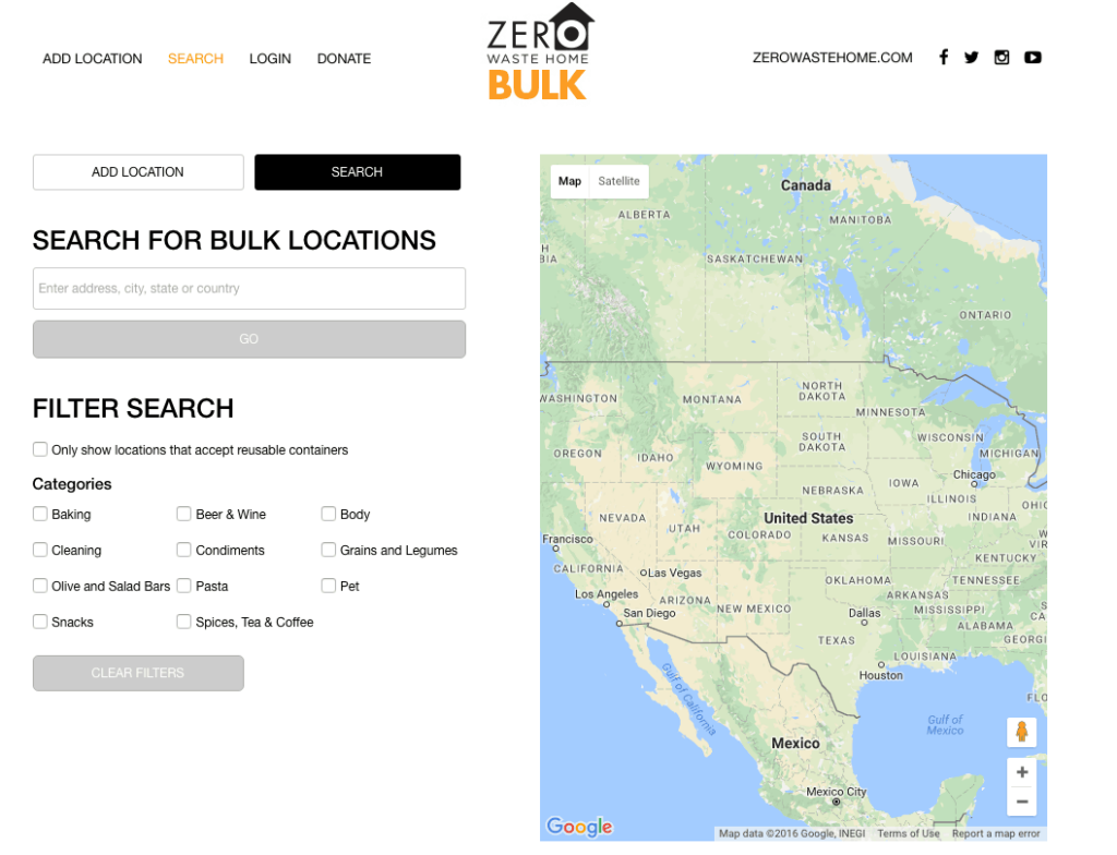 Zero Waste Home Bulk App