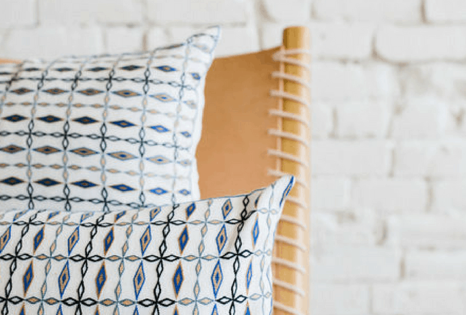 Raven & Lily | Kandahari Rectangle Embroidered Pillow