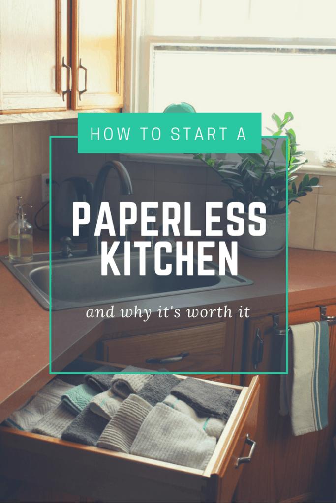 How to start a paperless kitchen - Transitioning to Zero Waste. #zerowaste #sustainability