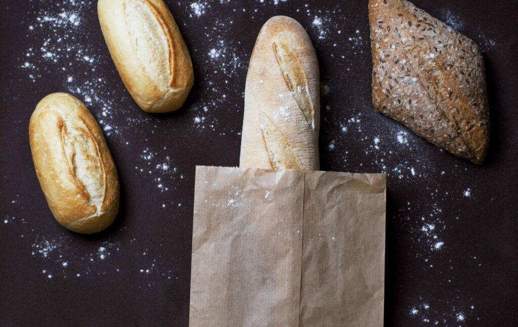 bread in compostable packaging