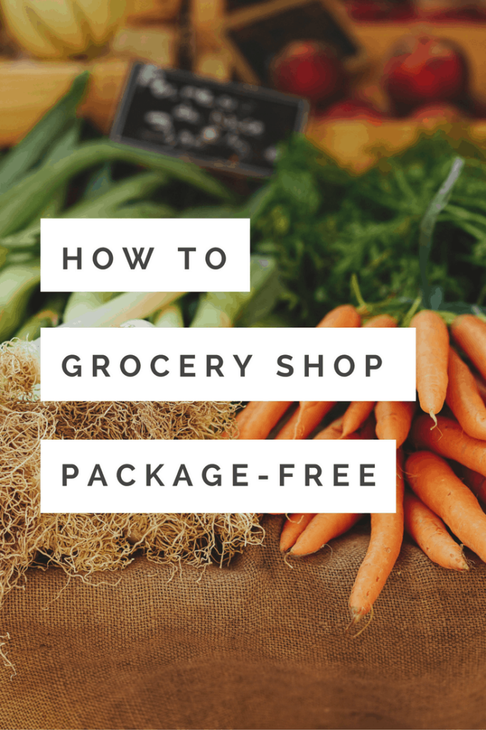 How to grocery shop package-free graphic