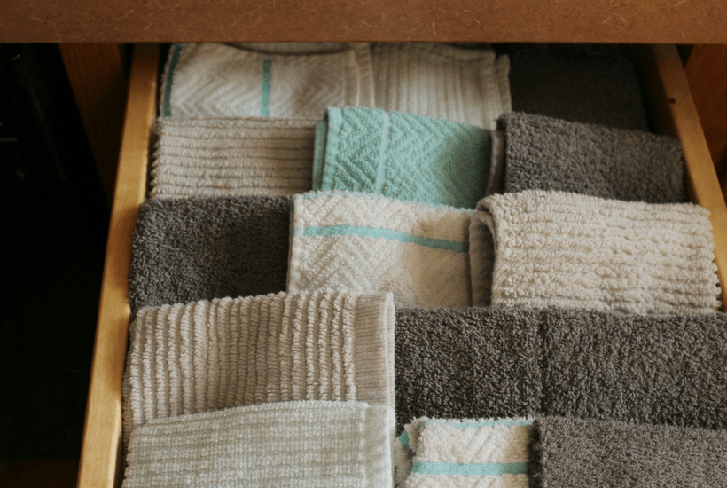 Using cloth towels instead of paper towels