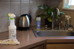 Natural counter top cleaner