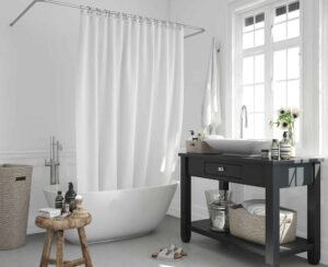 Zero waste shower curtain solutions