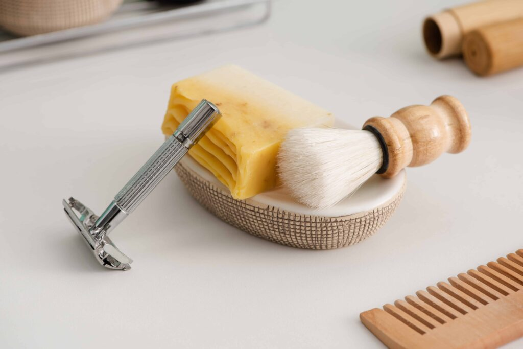 Zero waste shaving routine