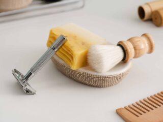 Zero waste shaving routine