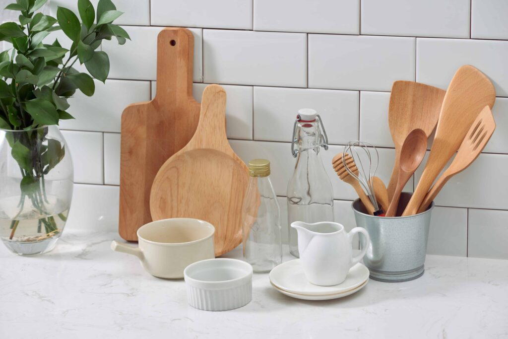 wooden utensils - zero waste kitchen